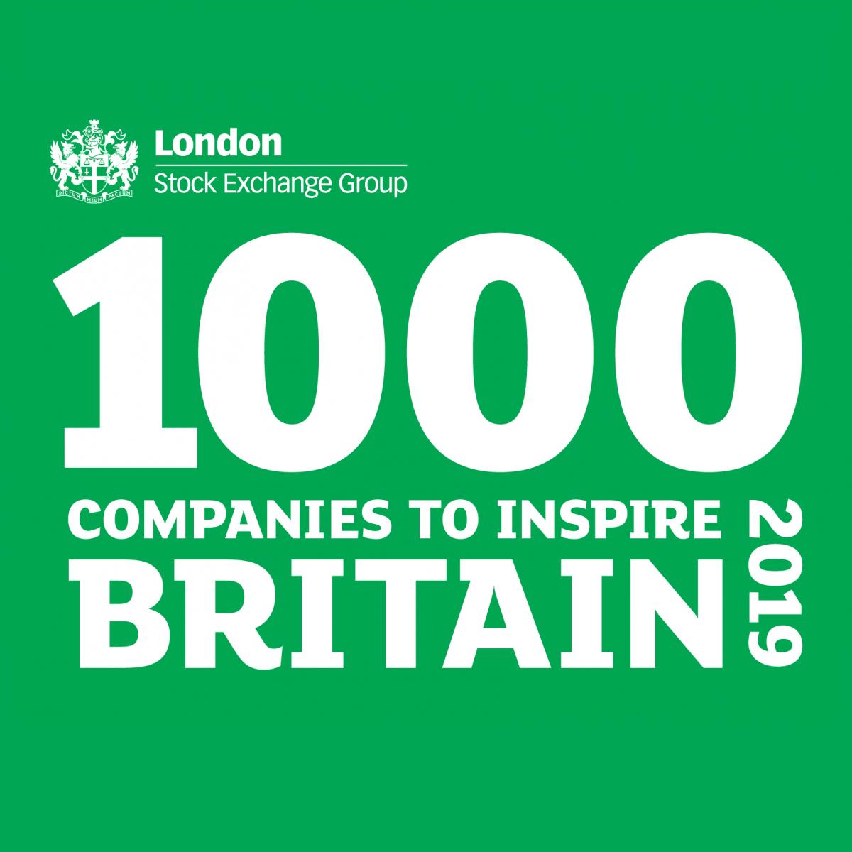 LSEG 1000 Companies to Inspire Britain 2019 Logo