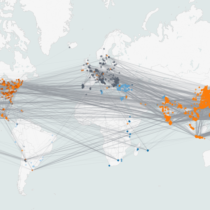 Tableau data visualization image of the world