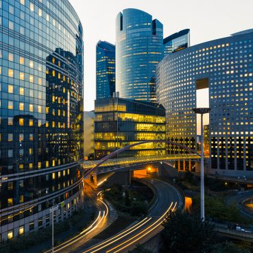 cityscape financial buildings requiring TCFD disclosure